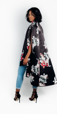 Shop deluxe satin floral cape for women