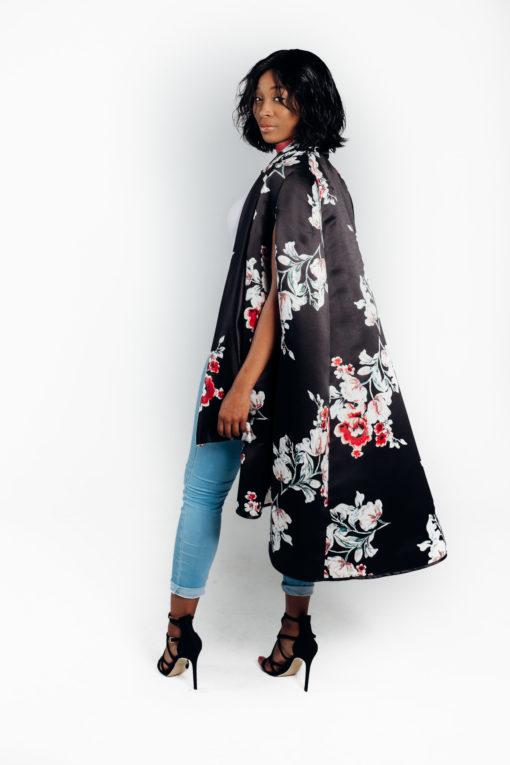Shop deluxe satin floral cape for women